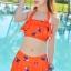 ชุดว่ายน้ำแฟชั่นพร้อมส่ง :ชุดว่ายน้ำทูพีชสีส้มแต่งลายนกแบบเก๋สายคล้องคอ มีกางเกงด้านในน่ารักมากๆจ้า:รอบอก30-38นิ้ว เอว24-30นิ้ว สะโพก30-38นิ้วจ้า thumbnail 1
