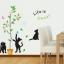 สติ๊กเกอร์ลายแมวเหมียวเล่นต้นไม้ thumbnail 1
