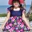 ชุดว่ายน้ำคนอ้วนพร้อมส่ง : ชุดว่ายน้ำคนอ้วนแฟชั่นสีน้ำเงินแต่งลายดอกไม้สีชมพูสีสันสดใส กางเกงขาสั้นใส่ด้านในน่ารักมากๆจ้า:รอบอก38-48นิ้ว เอว32-42นิ้ว สะโพก38-48นิ้วจ้า thumbnail 1