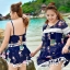 ชุดว่ายน้ำคนอ้วน พร้อมส่ง :ชุดว่ายน้ำไซส์ใหญ่สีน้ำเงินแต่งลายการ์ตูนและพู่สีสันสดใส set 3ชิ้น มีบรา กางเกงขาสั้นติดกระโปรงและเสื้อคลุม น่ารักมากๆจ้า:รายละเอียดไซส์คลิกเลยจ้า thumbnail 1