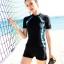 ชุดว่ายน้ำทูพีช พร้อมส่ง :ชุดว่ายน้ำคนอ้วนสีดำแขนสั้นแต่งลายสีฟ้า กางเกงขาสั้นสีดำ .สีสันสดใสแบบสวยน่ารักมากๆจ้า:รอบอก38-46นิ้ว เอว36-46นิ้ว สะโพก40-50นิ้ว thumbnail 1