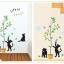สติ๊กเกอร์ลายแมวเหมียวเล่นต้นไม้ thumbnail 3