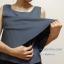 เสื้อให้นม Phrimz : Belle breastfeeding top - Charcoal สีเทาเข้ม thumbnail 5