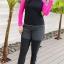 ชุดว่ายน้ำคนอ้วน แบบสปอร์ตพร้อมส่ง :ชุดว่ายน้ำไซส์ใหญ่สีดำชมพูแขนยาว set 3 ชิ้น. มีเสื้อแขนยาว บราและกางเกงขายาวติดกางเกงขาสั้น แบบสวยคุ้มสุดๆจ้า:เสื้อแขนยาวรอบอก36-42นิ้ว บรารอบอก34-40นิ้ว กางเกงขายาวติดกางเกงขาสั้น เอว28-36นิ้ว สะโพก36-44นิ้วจ้า thumbnail 2