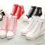 รองเท้าผ้าใบส้นสูงซิปข้าง ไซต์ 35-43 thumbnail 1