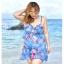 ชุดว่ายน้ำคนอ้วน พร้อมส่ง :ชุดว่ายน้ำไซส์ใหญ่สีฟ้าแต่งลายดอกไม้สีสวยสดใส set 3ชิ้นมี บรา กางเกงขาสั้นติดกระโปรง และเสื้อคลุมแบบเก๋ สวยมากๆจ้า:รายละเอียดไซสคลิกเลยจ้า thumbnail 2
