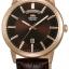 นาฬิกาผู้ชาย Orient รุ่น EV0U002T, Classic Automatic Brown Dial Leather Strap thumbnail 1