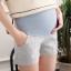 กางเกงคนท้อง ขาสั้น สีเทา ลายสก๊อต M,L,XL,XXL