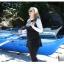 ชุดว่ายน้ำคนอ้วน แบบสปอร์ตพร้อมส่ง :ชุดว่ายน้ำไซส์ใหญ่สีดำแต่งแขนสีขาว set 4 ชิ้นมีเสื้อแขนยาว บิกินี่ กระโปรงและกางเกงขายาว แบบสวยคุ้มสุดๆจ้า:รายละเอียดไซส์คลิกเลยจ้า thumbnail 8