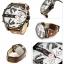 นาฬิกาผู้ชาย Diesel รุ่น DZ7394, Mr.Daddy 2.0 Chronograph Leather Silver Dial 4 Time Zone Men's Watch thumbnail 2