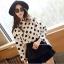 เสื้อผ้าแฟชั่นผู้หญิง ((พร้อมส่ง)) : เสื้อแฟชั่นสีขาวแต่งลายจุดสีดำ น่ารัก น่ารักจ้า thumbnail 1