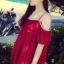 เสื้อผ้าแฟชั่นผู้หญิง ((พร้อมส่ง)) : เสื้อแฟชั่นสีแดง สายเดี่ยว แต่งระบายที่เสื้อ ผ้าพริ้วๆน่ารักๆจ้า thumbnail 1