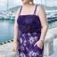 ชุดว่ายน้ำไซส์ใหญ่ พร้อมส่ง :ชุดว่ายน้ำคนอ้วนสีม่วง แต่งลายดอกดาวกระจาย set 4 ชิ้น มีบราตัวใน กางเกงขาสั้น ชุดกางเกงเกาะอก และเสื้อคลุม สีสันสดใสแบบสวยน่ารักมากๆจ้า:รายละเอียดไซส์คลิกเลยจ้า thumbnail 3