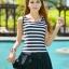 ชุดว่ายน้ำคนอ้วนพร้อมส่ง :ชุดว่ายน้ำแฟชั่นสีดำแต่งลายทางสีขาวสีสันสดใส กางเกงขาสั้นใส่ด้านในน่ารักมากๆจ้า:รอบอก36-42นิ้ว เอว30-38นิ้ว สะโพก34-44นิ้ว thumbnail 1