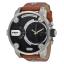 นาฬิกาผู้ชาย Diesel รุ่น DZ7264, Little Daddy Chronograph Brown Leather Men's Watch thumbnail 1