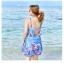 ชุดว่ายน้ำคนอ้วน พร้อมส่ง :ชุดว่ายน้ำไซส์ใหญ่สีฟ้าแต่งลายดอกไม้สีสวยสดใส set 3ชิ้นมี บรา กางเกงขาสั้นติดกระโปรง และเสื้อคลุมแบบเก๋ สวยมากๆจ้า:รายละเอียดไซสคลิกเลยจ้า thumbnail 3