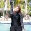 ชุดว่ายน้ำคนอ้วน พร้อมส่ง :ชุดว่ายน้ำสีดำแขนยาวแต่งลาย set 4 ชิ้นมีเสื้อแขนยาว บรา กางเกงบิกินี่ด้านใน กางเกงขาสั้น แบบเก๋น่ารักมากๆจ้า:รายละเอียดไซส์คลิกเลยจ้า thumbnail 3