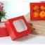 กล่องขนม กล่องสแน็ค หน้าต่าง สีแดง snack thumbnail 2