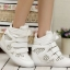 รองเท้าผ้าใบแฟชั่นแบบกลวงระบายอากาศเสริมสูงสไตล์เกาหลีรองเท้าลำลอง thumbnail 1