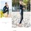 ชุดว่ายน้ำคนอ้วน ทูพีชพร้อมส่ง :ชุดว่ายน้ำแขนยาวสีดำ กางเกงขายาวสีดำแต่งลายสีฟ้า. สีสันสดใสแบบสวยน่ารักมากๆจ้า:รอบอก38-46นิ้ว เอว40-50นิ้ว สะโพก40-52นิ้ว thumbnail 7