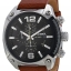 นาฬิกาผู้ชาย Diesel รุ่น DZ4296, Overflow Chroonograph Black Dial Brown Leather thumbnail 1