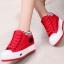 รองเท้าผ้าใบหุ้มข้อพื้นหนาแฟชั่นเกาหลี thumbnail 3