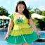 ชุดว่ายน้ำคนอ้วน พร้อมส่ง : ชุดว่ายน้ำคนอ้วนแฟชั่นไซส์ใหญ่ สีเขียวแต่งลายจุดที่ผ้าสีสันสดใส กางเกงขาสั้นใส่ด้านในน่ารักมากๆจ้า : รอบอก44-52นิ้ว เอว38-48นิ้ว สะโพก44-54นิ้วจ้า thumbnail 1
