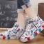รองเท้าผ้าใบหุ้มข้อสไตล์เกาหลี thumbnail 3