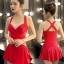 ชุดว่ายน้ำทูพีช พร้อมส่ง :ชุดว่ายน้ำสีแดงแต่งสายด้านหลัง มีกางเกงใส่ด้านในแบบสวย. sexyมากๆจ้า:รอบอก36-44นิ้ว เอว30-36นิ้ว สะโพก36-44นิ้ว thumbnail 1