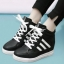 รองเท้าผ้าใบหนังPUส้นสูงแฟชั่นผูกเชือก thumbnail 2