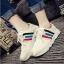 รองเท้าผ้าใบเกาหลีพื้นหนามีแทบสีด้านข้าง thumbnail 3