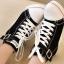 รองเท้าผ้าใบส้นสูงแฟชั่นประดับเข็มขัดสไตล์เกาหลี thumbnail 1