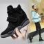 รองเท้าผ้าใบส้นสูง Velcro หนัง nubuck thumbnail 3