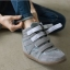 รองเท้าผ้าใบหุ้มข้อVelcroหนังnubuckเกาหลี thumbnail 1