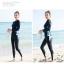 ชุดว่ายน้ำคนอ้วน ทูพีชพร้อมส่ง :ชุดว่ายน้ำแขนยาวสีดำ กางเกงขายาวสีดำแต่งลายสีฟ้า. สีสันสดใสแบบสวยน่ารักมากๆจ้า:รอบอก38-46นิ้ว เอว40-50นิ้ว สะโพก40-52นิ้ว thumbnail 6