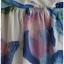 Sold Jumpsuit เอวจั๊ม ผ้าชีฟอง พื้นสีขาว ลายดอก thumbnail 2
