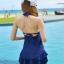 ชุดว่ายน้ำวันพีช พร้อมส่ง :ชุดว่ายน้ำแฟชั่นสีน้ำเงินแต่งซีทรู ผูกคอด้านหลังมีกางเกงใส่ด้านในแบบสวย sexyมากๆจ้า:รอบอก30-38 เอว30-38 สะโพก34-42นิ้วจ้า thumbnail 1