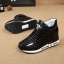 รองเท้าผ้าใบเสริมสูง Velcro หนัง Pu thumbnail 5