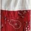 เดรส เสื้อคอปีน แขนยาว สีขาว กระโปรง สีแดง พิมพ์ลาย thumbnail 4