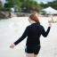 ชุดว่ายน้ำคนอ้วน แบบสปอร์ตพร้อมส่ง :ชุดว่ายน้ำไซส์ใหญ่สีดำแขนยาวแต่งลายอักษรขอบฟ้า set 4 ชิ้น มีเสื้อแขนยาว บรา บิกินี่ กางเกงขาสั้น แบบสวยน่ารักมากๆจ้า:รายละเอียดไซส์คลิกเลยจ้า thumbnail 7