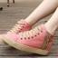 (พร้อมส่ง) รองเท้าผ้าใบแฟชั่นซิปข้าง thumbnail 2