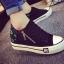 รองเท้าผ้าใบพื้นหนาแฟชั่นประดับซิปข้าง thumbnail 5