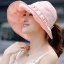 หมวกแฟชั่นพร้อมส่ง : หมวกปีกบานกว้างกันแดดสีชมพูอ่อน พักเก็บง่ายแบบสวยน่ารักๆจ้า thumbnail 1