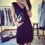 ((พร้อมส่ง)) เสื้อผ้าแฟชั่นผู้หญิง : เดรสสีดำ แต่งลูกไม้รอบตัว น่ารัก น่ารักจ้า thumbnail 1