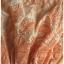 เดรส แขนตุ๊กตา เข้าเอว ซิปหลัง สีส้ม ปักลาย thumbnail 2