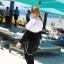 ชุดว่ายน้ำคนอ้วน พร้อมส่ง :ชุดว่ายน้ำไซส์ใหญ่แบบสปอร์ตสีดำขาวแต่งลายอักษร set 5 ชิ้นมีเสื้อแขนยาว บรา บิกินี่ กางเกงขาสั้น กางเกงขายาว แบบสวยคุ้มสุดๆจ้า:รายละเอียดไซส์คลิกเลยจ้า thumbnail 7