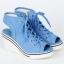 รองเท้าผ้าใบรุ่นหัวตัด เสริมสูงประดับซิปข้างสไตล์เกาหลี thumbnail 3