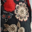 เดรส ลำลอง สไตล์ ญี่ปุ่น ผูกเอว พื้นสีดำ ลายดอก thumbnail 3