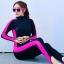 ชุดว่ายน้ำคนอ้วน วันพีชพร้อมส่ง :swimsuit สีดำแถบสีชมพูซิปหน้าขายาว .สีสันสดใสน่ารักมากๆจ้า:รอบอก34-44นิ้ว เอว28-36นิ้ว สะโพก32-44นิ้วจ้า thumbnail 1