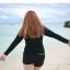 ชุดว่ายน้ำคนอ้วน แบบสปอร์ตพร้อมส่ง :ชุดว่ายน้ำไซส์ใหญ่สีดำแขนยาวแต่งลายอักษรขอบฟ้า set 4 ชิ้น มีเสื้อแขนยาว บรา บิกินี่ กางเกงขาสั้น แบบสวยน่ารักมากๆจ้า:รายละเอียดไซส์คลิกเลยจ้า thumbnail 3